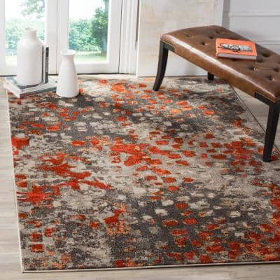 Modern Orange Area Rugs Rugs The Home Depot