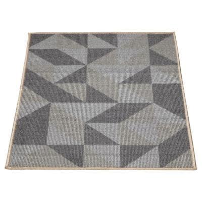 Ottohome Gray 2 ft. 3 in. x 3 ft. Modern Abstract Design Area Rug