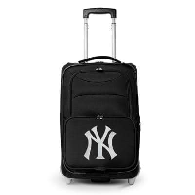 MLB New York Yankees 21 in. Black Carry-On Rolling Softside Suitcase