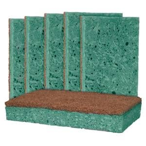 Outdoor Soap-Infused X-Large Heavy-Duty Odor and Bacteria Resistant Scrub Sponge (6-Pack)