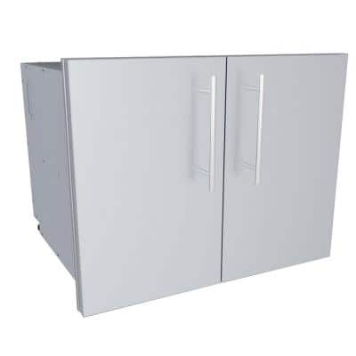 Designer Series Raised Style - 30 in. Double Door Dry Storage Pantry