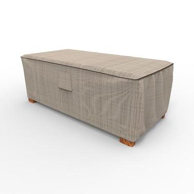 English Garden Medium Slim Patio Ottoman / Coffee Table Covers
