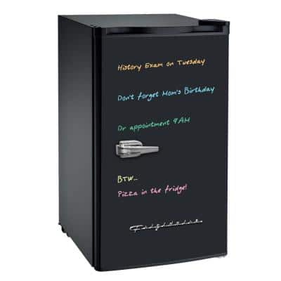 3.2 cu. ft. Mini Refrigerator with Eraser Board in Black