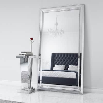 Omni Large Modern Clear Mirror