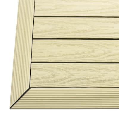 1/6 ft. x 1 ft. Quick Deck Composite Deck Tile Outside Corner Fascia in Sahara Sand (2-Pieces/Box)