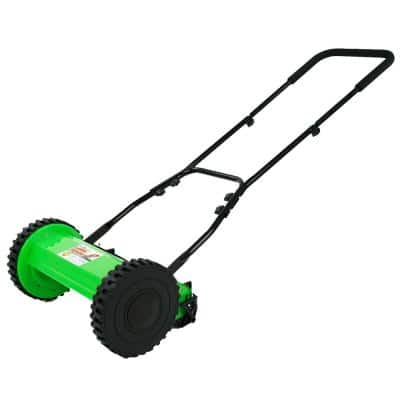 Lawn Demon 10 in Cutting width Walk behind Manual Power Push Reel Mower