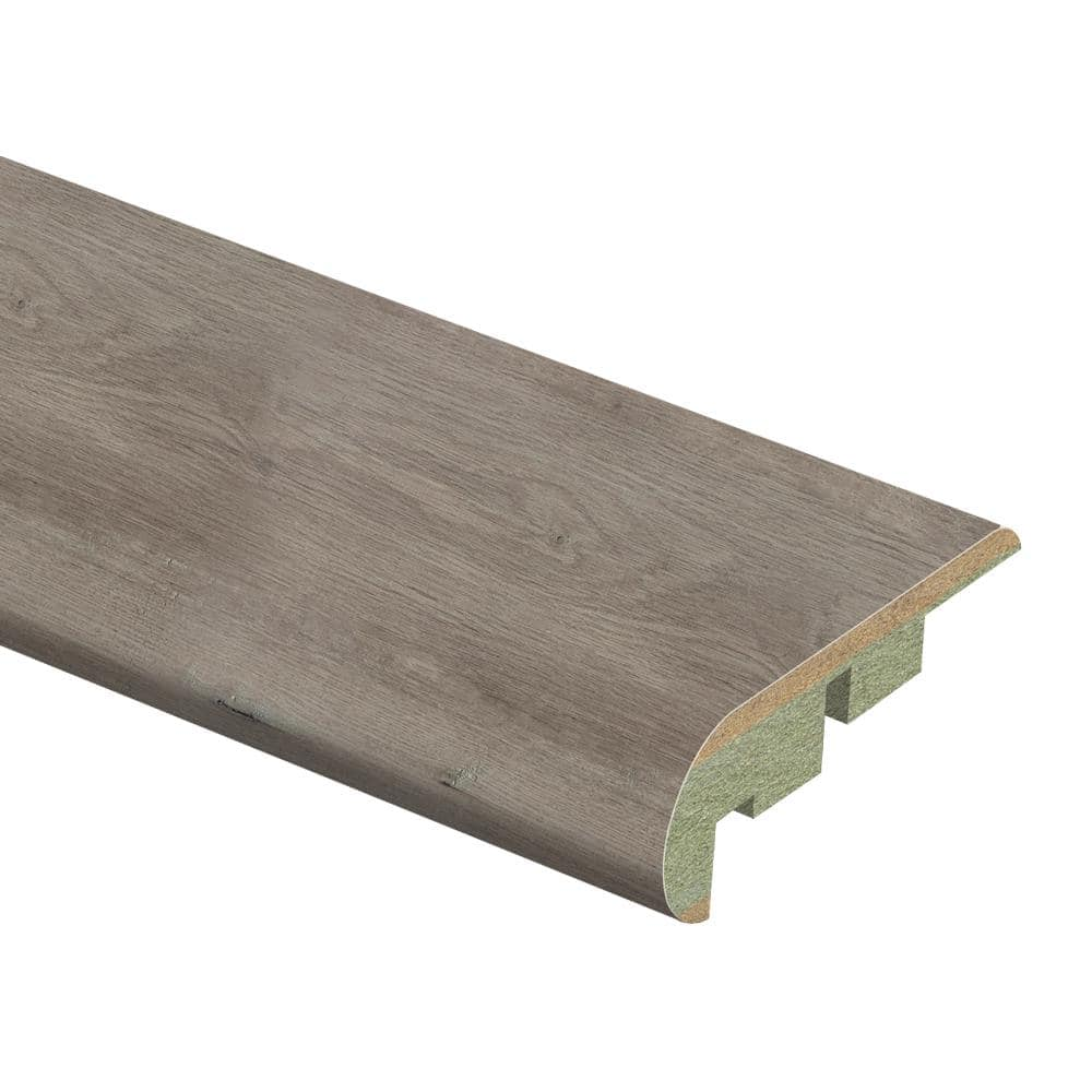 Zamma Ashcombe Aged Oak 3 4 In Thick X 2 1 8 In Wide X 94 In Length Laminate Stair Nose Molding 013541878 The Home Depot