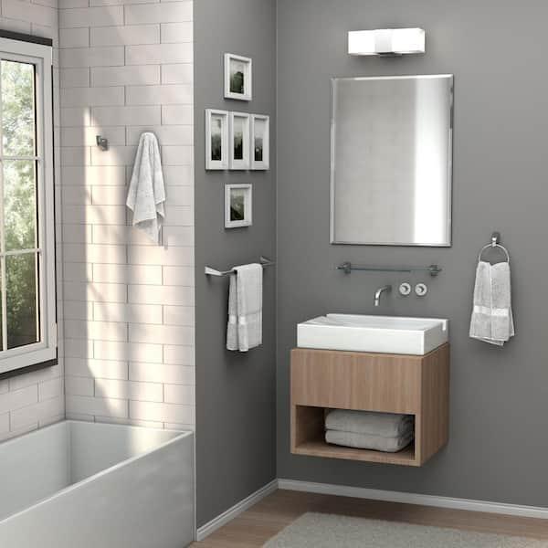 Gatco Flush 28 In W X 36 In H Frameless Rectangular Beveled Edge Bathroom Vanity Mirror 1804 The Home Depot