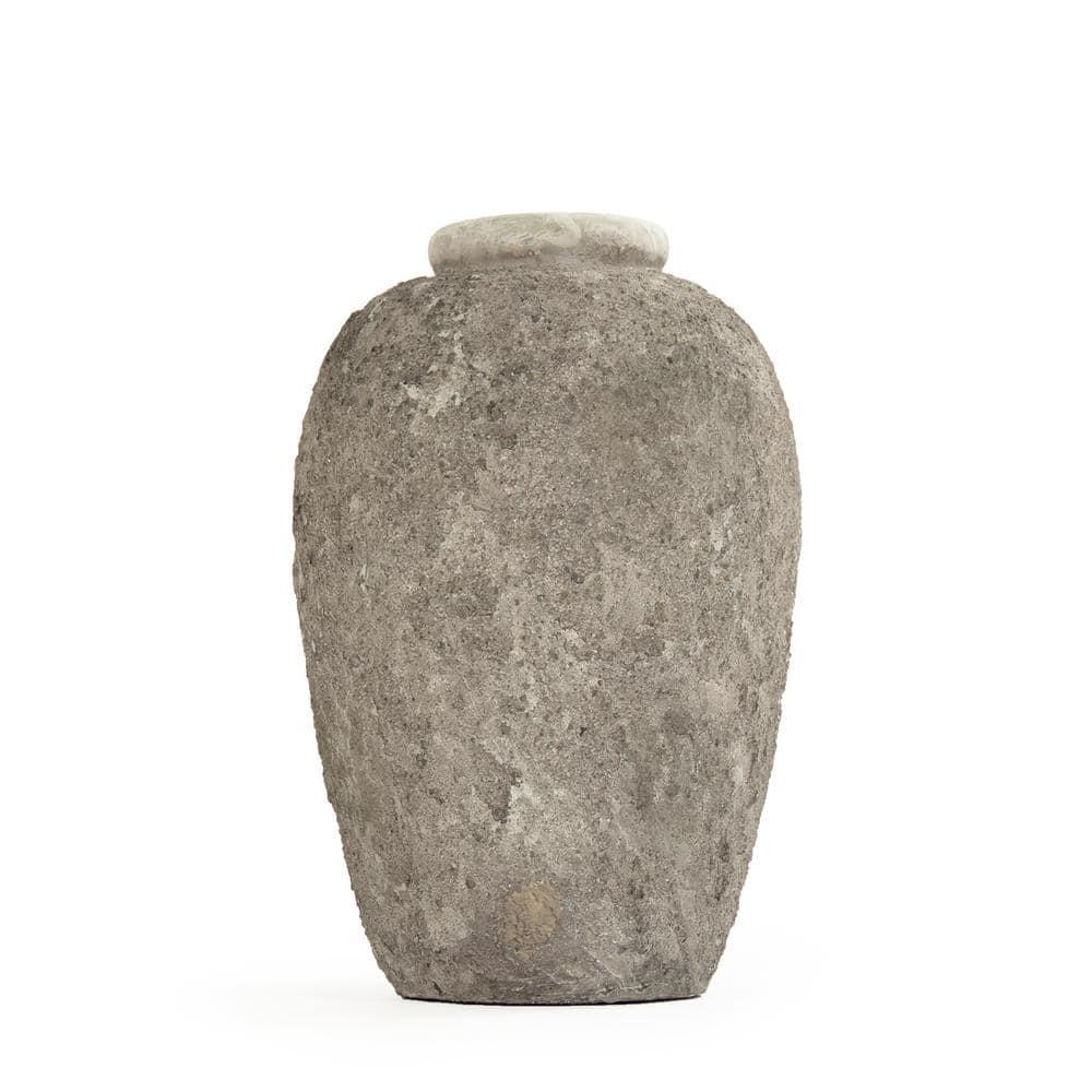Zentique Stone Like Grey Large Decorative Vase 8383l A717 The Home Depot