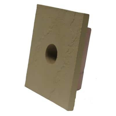 8 in. x 9 in. Sandstone Buff Small Universal Mounting Block