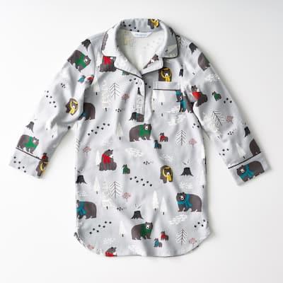 Family Flannel Company Cotton Girl's 4T Sleepshirt in Bear