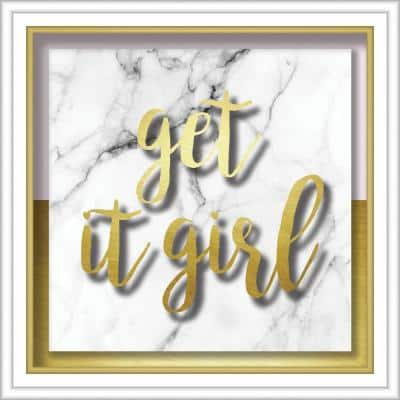 Get It Girl 10  in. x 10 in. Shadowbox Wall Art