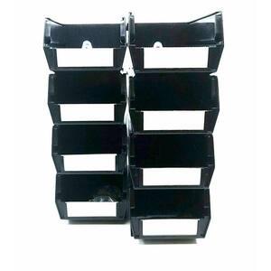 4-1/8 in. Tool Storage Bin BinKit Black (8-Piece)