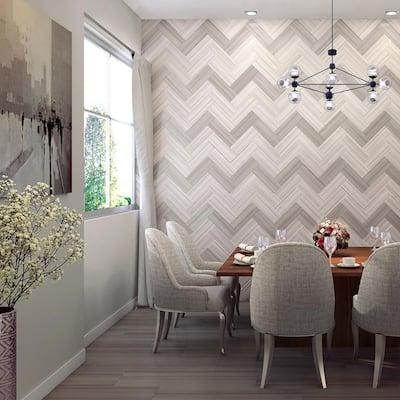 Torcello Bianco Valetta S44C9 4-1/4 in. x 12-3/4 in. Ceramic Bullnose Wall Tile (20-each / Carton)