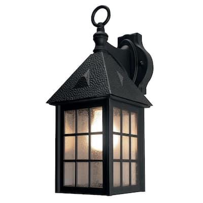 Belmont Black Outdoor Wall-Mount Lantern Sconce