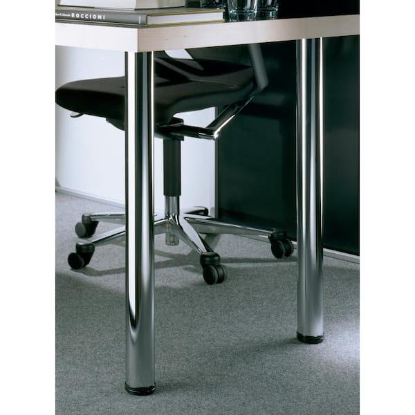 Chrome Steel Table Leg Set, Chrome Furniture Legs