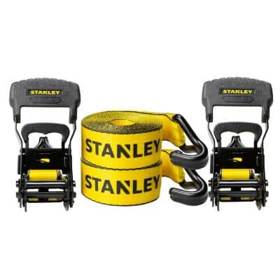 1.5 in. x 16 ft. Ratchet Straps 3300 lbs. Break Strength (2-Pack)