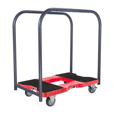 1,200 lbs. Polypropylene Professional E-Track Panel Cart Dolly in Red