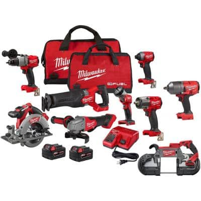 M18 FUEL 18-Volt Lithium-Ion Brushless Cordless Combo Kit (7-Tool) with 1/2in. Impact Wrench and Deep Cut Bandsaw