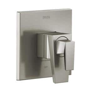 Trillian 1-Handle Wall Mount Valve Trim Kit in Stainless with Temp Dial (Valve Not Included)