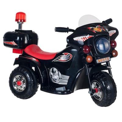 3-Wheel Battery Powered Motorcycle in Black/Red