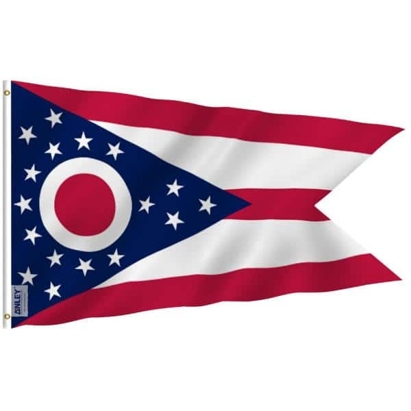 Anley Fly Breeze 3 Ft X 5 Ft Polyester Ohio State Flag 2 Sided Flags Banner With Brass Grommets And Canvas Header A Flag Stateohio The Home Depot