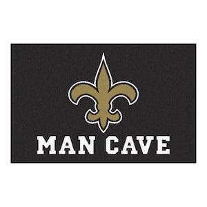NFL New Orleans Saints Black Man Cave 2 ft. x 3 ft. Area Rug