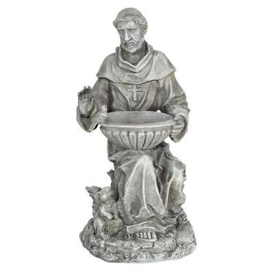 Saint Francis Resin Bird Feeder