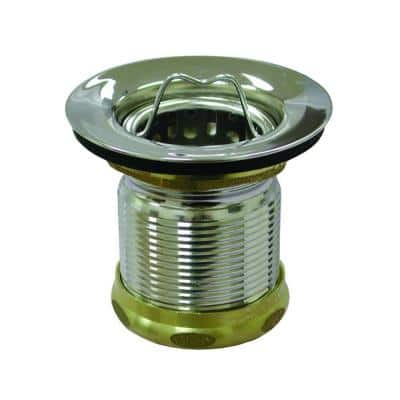 2 in. Deep Cup Junior Duo Basket Strainer in Chrome Finish for Bar Sinks