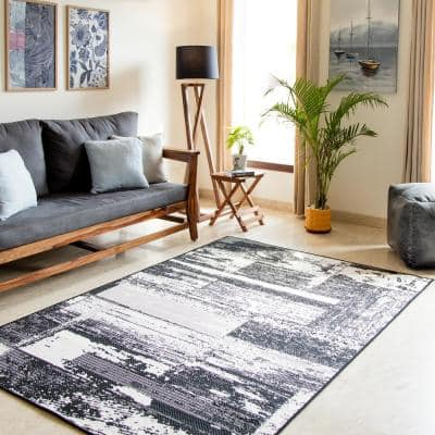Fenella Black 8 ft. x 10 ft. Indoor/Outdoor Area Rug