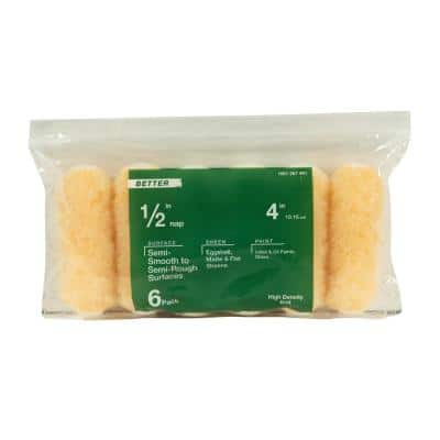 Better 4 in. x 1/2 in. High Density Knit Fabric Mini Roller (6-Pack)