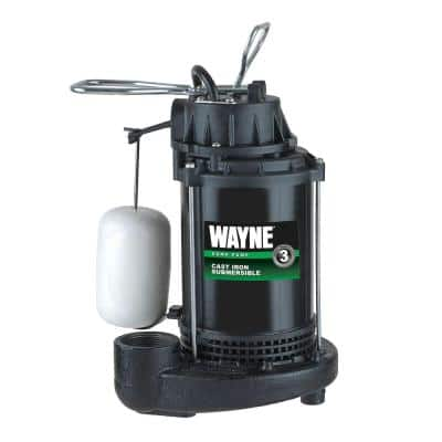 1/2 HP Cast Iron Sump Pump with Vertical Float Switch