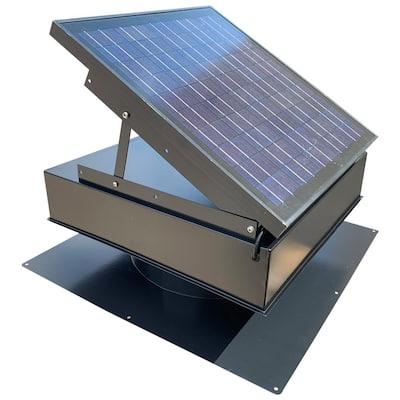 25-Watt 1420 CFM Gray Solar Powered Attic Fan
