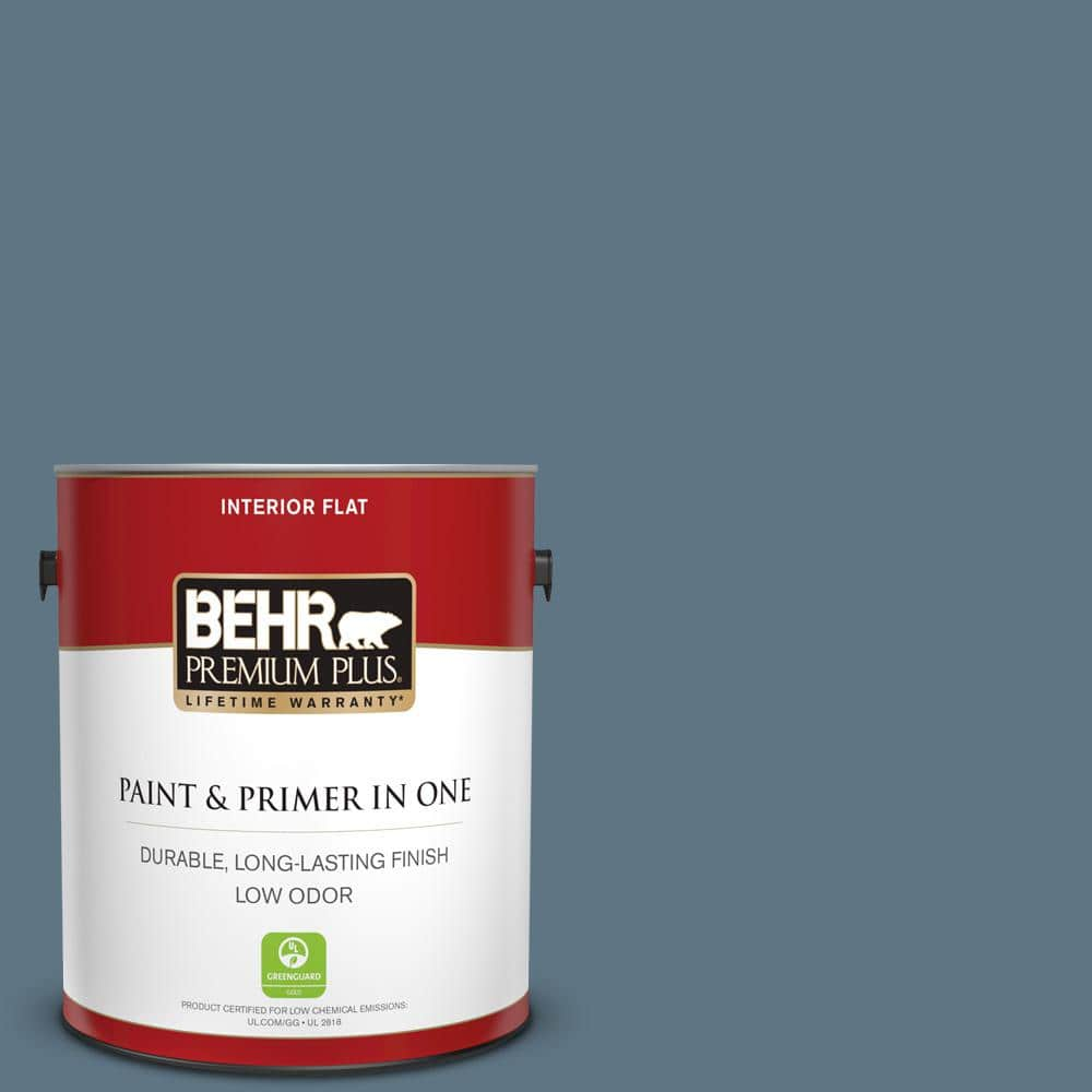 BEHR PREMIUM PLUS 1 gal. #MQ5-19 Hypnotic Flat Low Odor Interior Paint and  Primer in One-130001 - The Home Depot