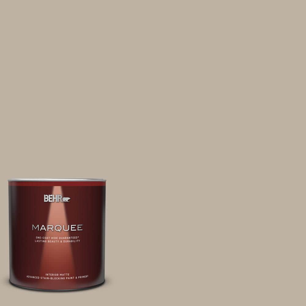 Behr Marquee 1 Qt N220 3 Smokestack One Coat Hide Matte Interior Paint Primer 145404 The Home Depot