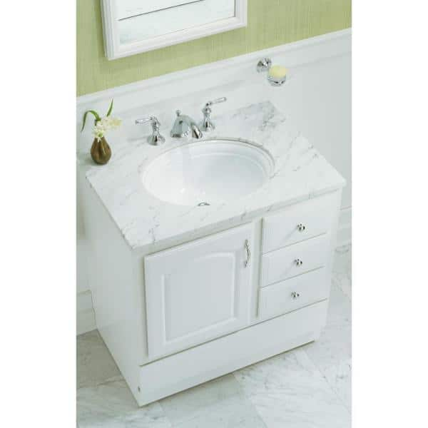 Kohler Devonshire 18 1 8 In Vitreous China Undermount Bathroom Sink In White With Overflow Drain K 2336 0 The Home Depot