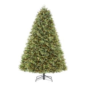 7.5 ft Kingsley Balsam Fir LED Pre- Lit Artificial Christmas Tree with 1,400 SureBright Color Changing Mini Lights