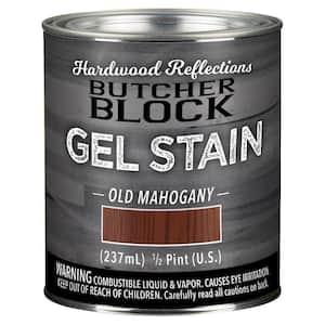1/2-Pint Old Mahogany Oil-Based Satin Interior Butcher Block Wood Gel Stain