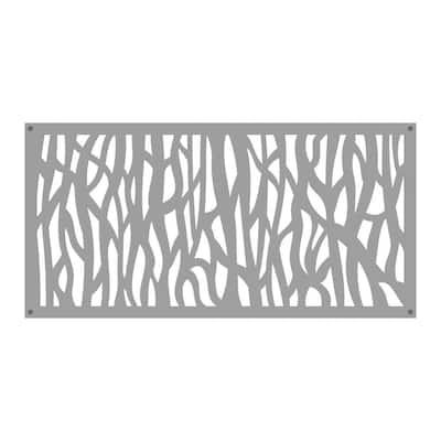 2 ft. x 4 ft. Sprig Clay Vinyl Decorative Screen Panel