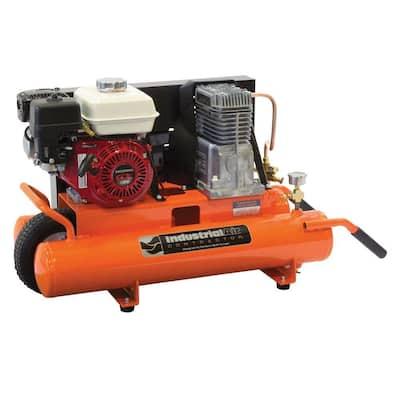 8 Gal. Portable Gas-Powered Wheelbarrow Air Compressor