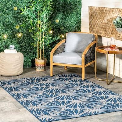Onyx Seashell Blue 8 ft. x 10 ft. Indoor/Outdoor Area Rug