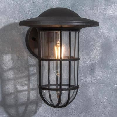 Coastal Niantic 1-Light Oil Rubbed Bronze Outdoor Wall Lantern Sconce