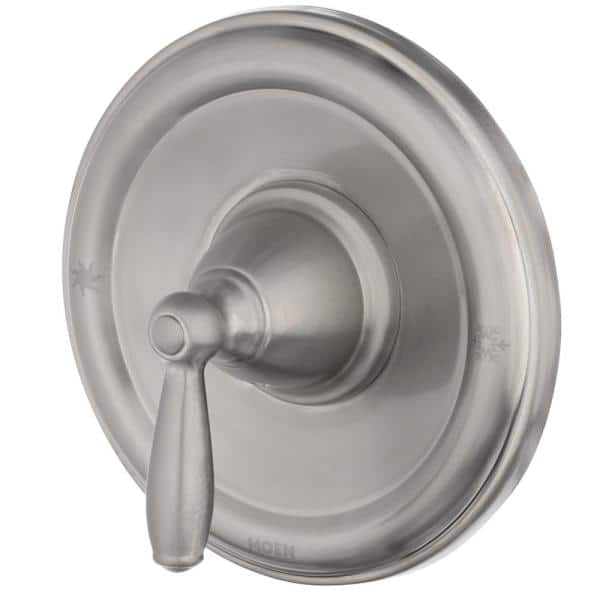 MOEN - Brantford Single-Handle Posi-Temp Tub and Shower Faucet Trim Kit in Brushed Nickel (Valve Not Included)
