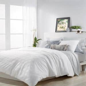3-Piece White King Comforter Set