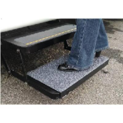 Sand Away Step Mat for All Rectangular Stow Away Steps - Charcoal Gray