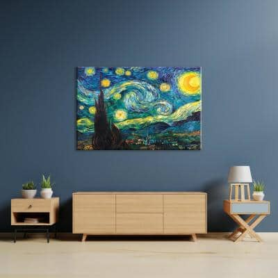 """Starry Night"" by Vincent van Gogh Unframed Canvas Wall Art"