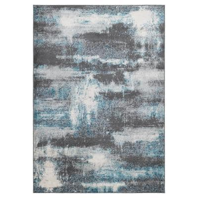 Rixos Collection Multi Colored 8 ft. x 10 ft. Distressed Area Rug