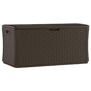 Java 134 Gal. Resin Wicker Deck Box