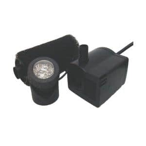 458 GPH Submersible Fountain and Pond Pump Kit with LED Light