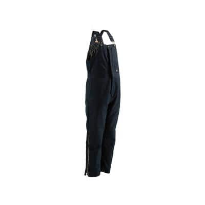 Men's 36 in. x 32 in. Navy Polyester and Cotton Deluxe Twill Insulated Bib Overall